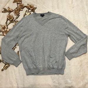 Brooks Brother 346 Supima Cotton Gray Sweater Sz L